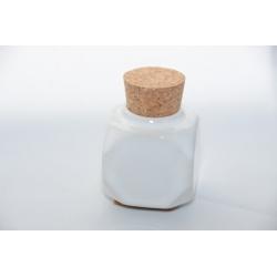 Godet Céramique bouchon liège Blanc