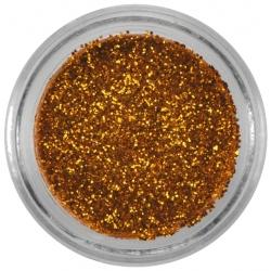 Poudre de paillettes dorée